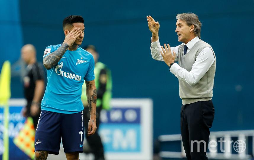 После матча с тульским «Арсеналом» (3:3) главный тренер Роберто Манчини сетовал на плохую игру в атаке. Фото Getty