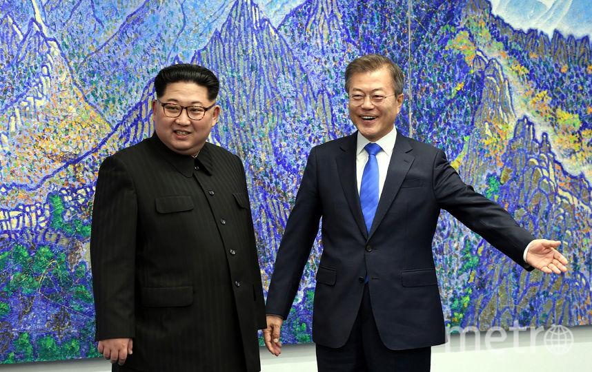 Встреча глав Северной и Южной Кореи. Фото Getty