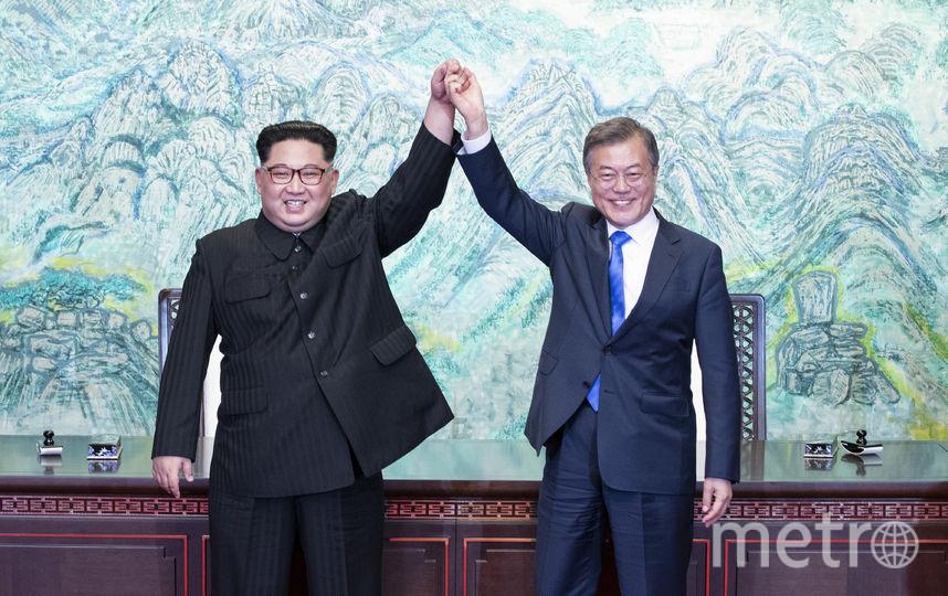 Лидер КНДР Ким Чен Ын заявил, что надеется на объединение в будущем его страны с Южной Кореей. Фото AFP
