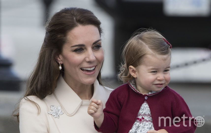 Кейт Миддлтон с принцессой Шарлоттой. Фото Getty