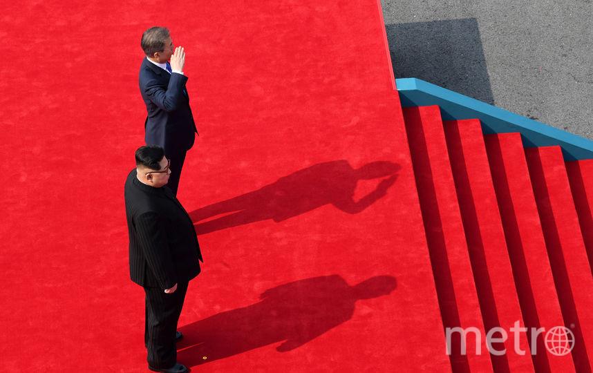 Ким Чен Ын  в Южной Корее. Фото Getty