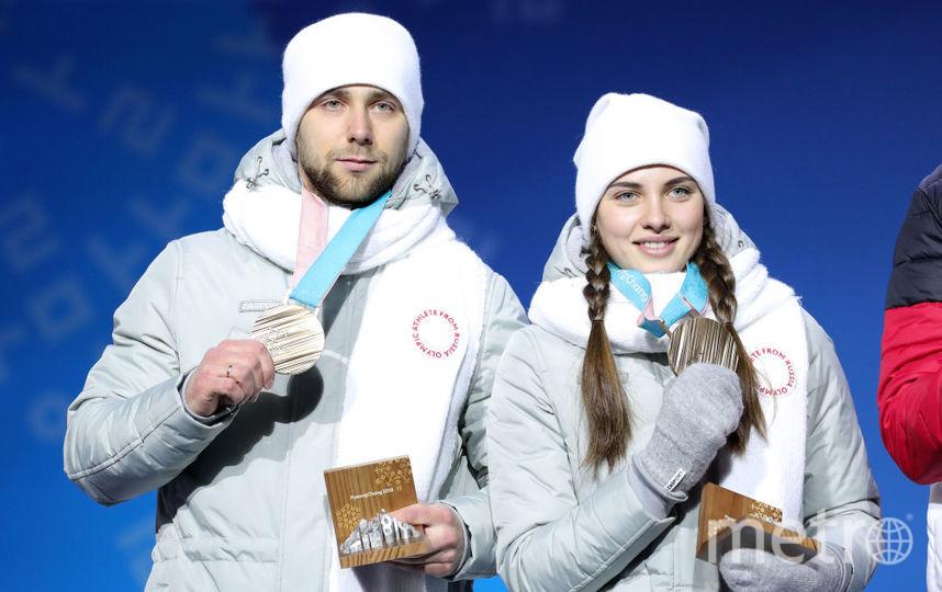 Анастасия Брызгалова и Александо Крушельницкий на Олимпиаде в Пхенчхане. Фото Getty