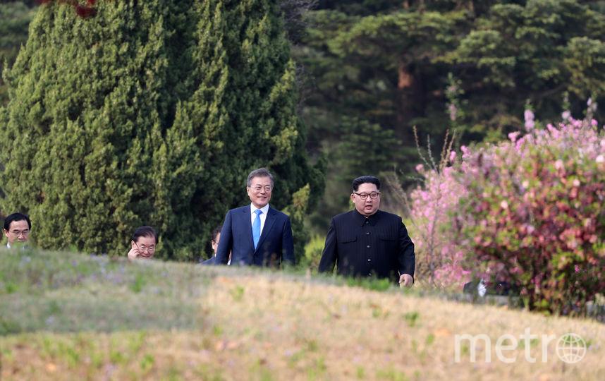 Лидеры КНДР и Южной Кореи. Фото AFP