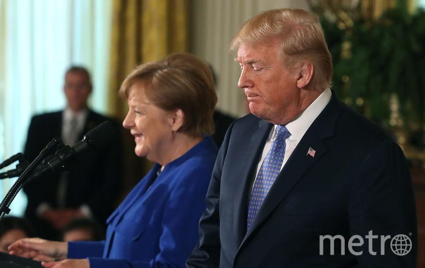 Ангела Меркель провела переговоры с Трампом в Белом доме. Фото Getty