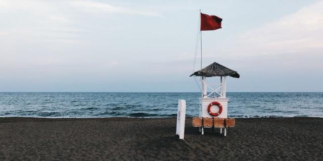 Вечерний пляж в районе Лара.