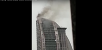Видео пожара в 130-метровой башне в Баку поделились в Сети