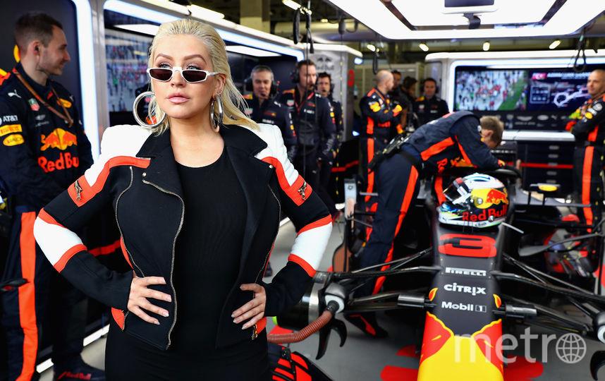 Певица Кристина Агилера приехала на гонку в Баку. Фото Getty