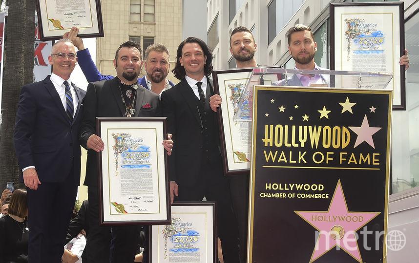 """NSYNC получил собственную звезду на """"Аллее славы"""". Фото AFP"""