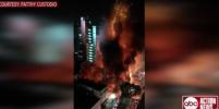 В центре Сан-Паулу рухнула горящая высотка. Видео