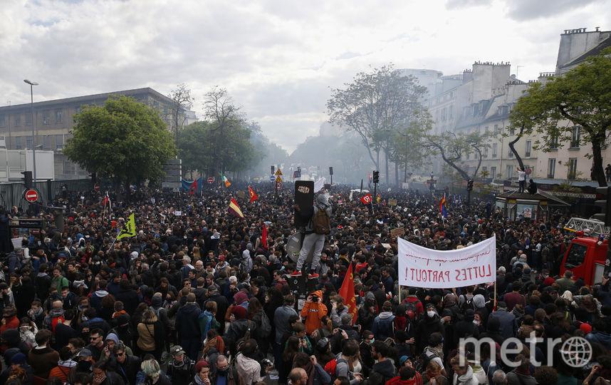 В Париже вспыхнули беспорядки. Фото AFP