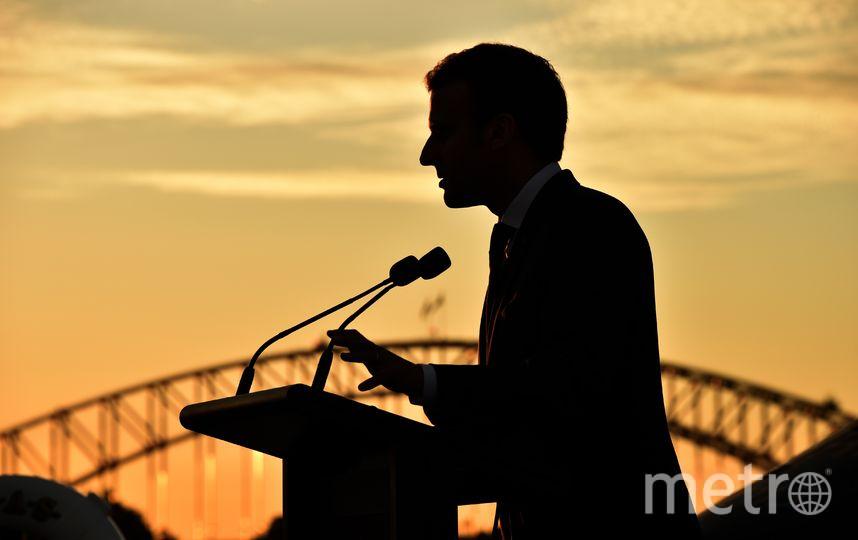 Эммануэль Макрон прилетел в Австралию для трехдневного визита во вторник. Фото AFP
