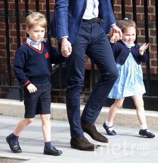 Принц Уильям, принц Джордж и принцесса Шарлотта, фотоархив. Фото Getty