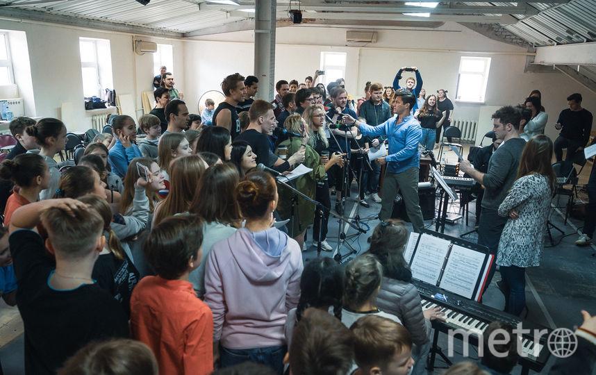 Репетиция с оркестром. Фото Театральная компания «Московский Бродвей».