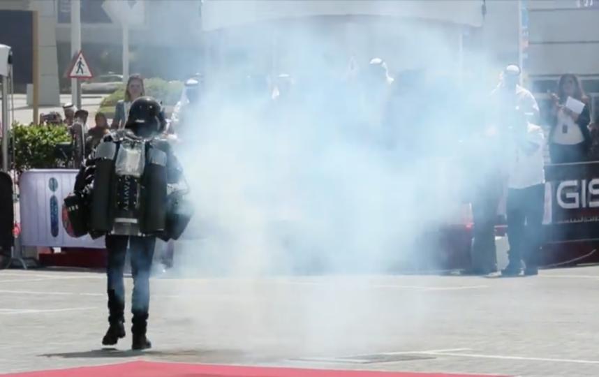 Скриншот из видео. Фото facebook.com/GISECDUBAI