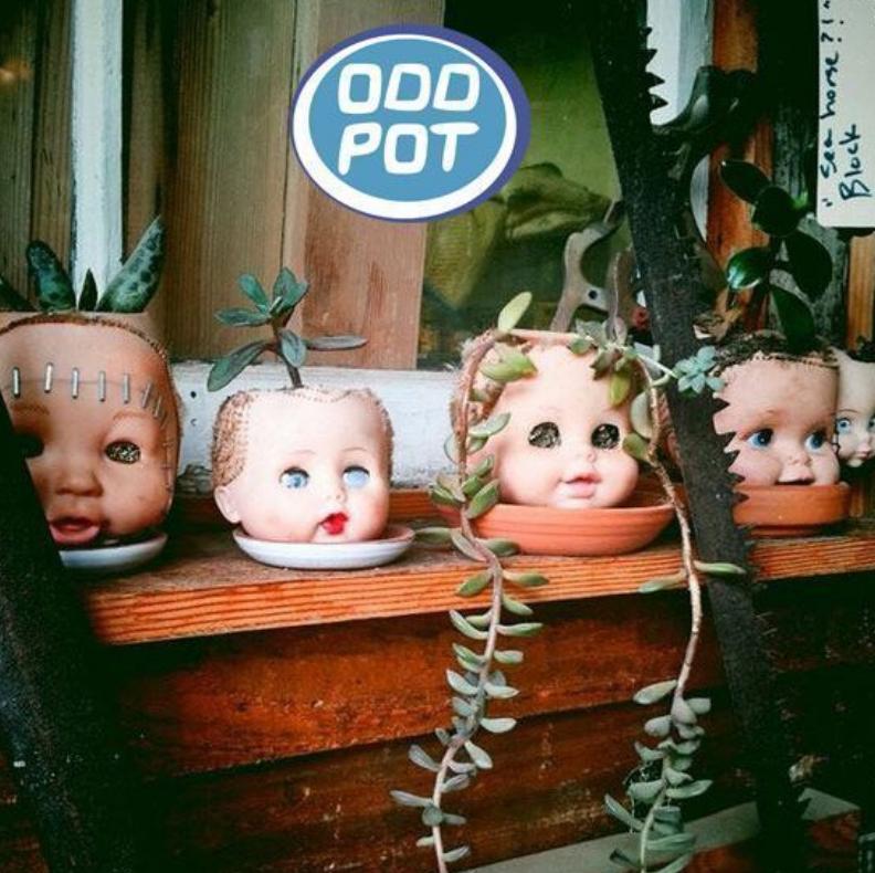 Дизайнеры предложили делать цветочные горшки из кукол.