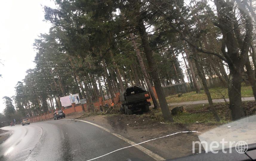 Фото с места ДТП на Приморском шоссе. Фото vk.com