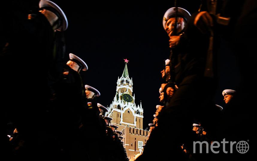 В Москве состоялась ночная репетиция Парада Победы. Фото AFP