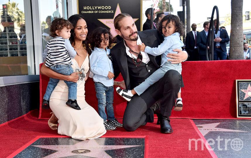 Зои Салдана на открытии звезды на Аллее Славы в Голливуде. Фото Getty