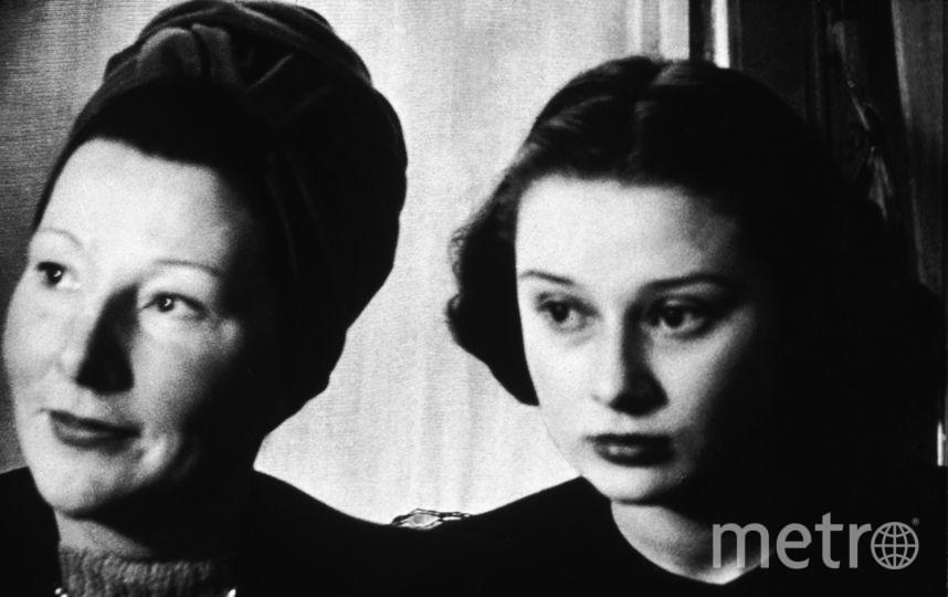 Одри Хепберн с мамой. Фото Getty