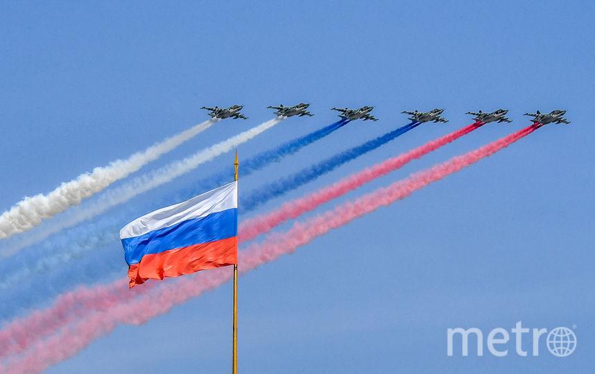 Пролёт авиации перед парадом Победы. Фото AFP