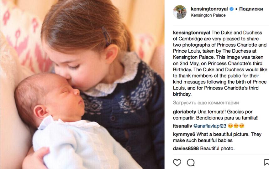 Принцесса Шарлотта с принцем Луи. Фото Скриншот www.instagram.com/kensingtonroyal/