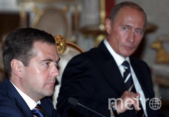 Путин и Медведев уже много лет работают в одной команде. Фото Getty