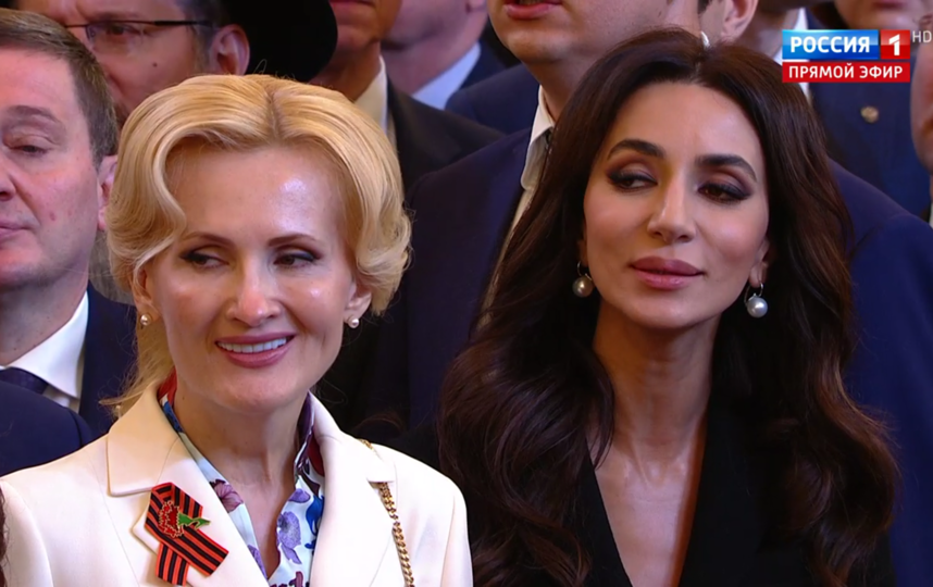 Инаугурация Путина. Ирина Яровая и певица Зара. Фото скрин-шот, Скриншот Youtube