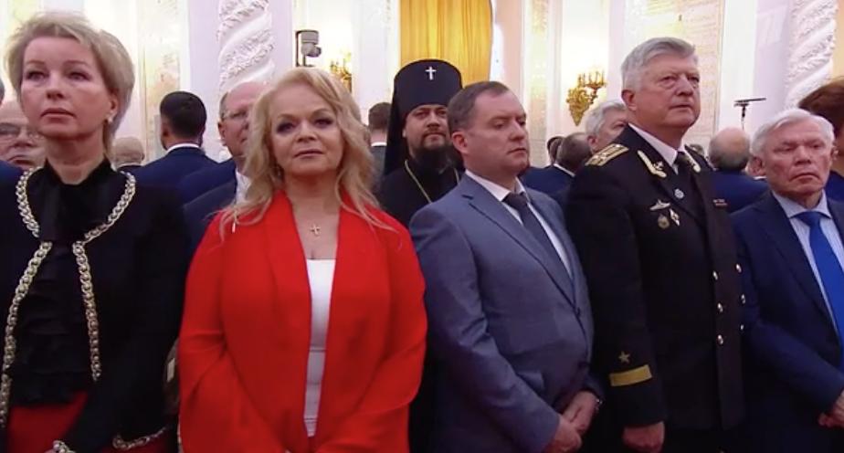 Лариса Долина на инаугурации Путина. Фото скрин-шот, Скриншот Youtube