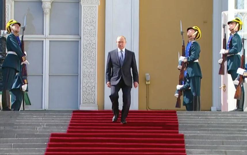 Президент России Владимир Путин. Фото Скриншот Первый канал