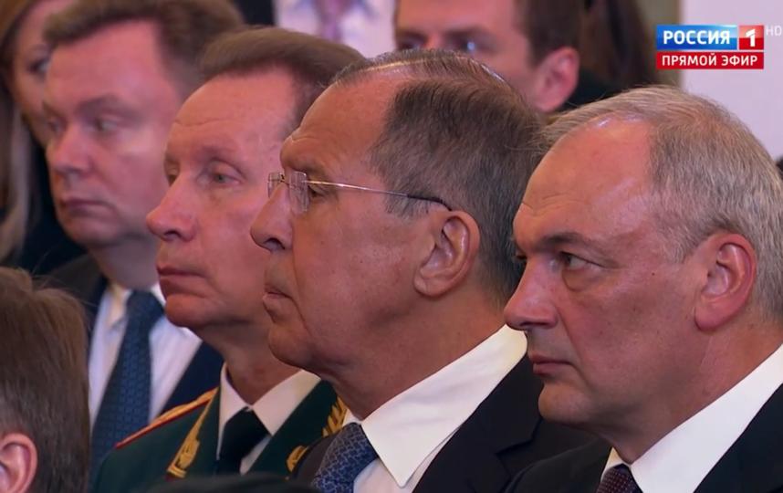 Гости инаугурации Путина. Сергей Лавров. Фото Скриншот Youtube