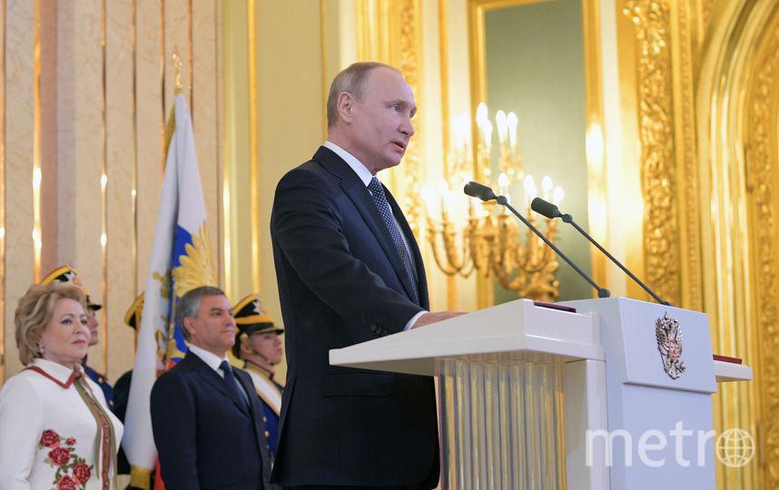 Владимир Путин 7 мая вступил в должность президента РФ. Он будет у власти 6 лет. Фото AFP