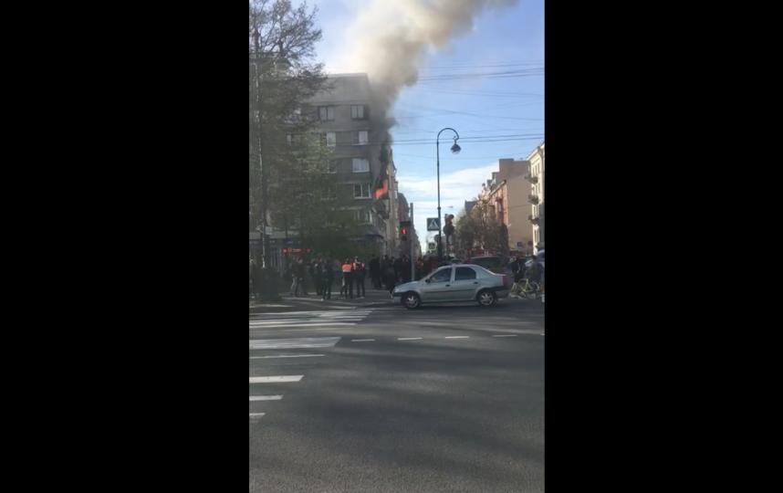 """Пожар на Васильевском острове. Фото """"Metro"""""""