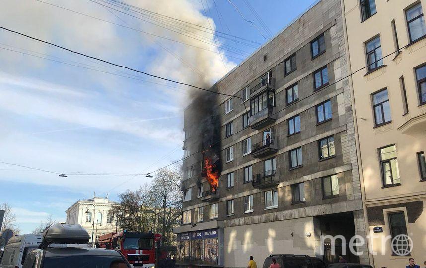 Пожар на Васильевском острове. Фото ДТП и ЧП / Санкт-Петербург /, vk.com