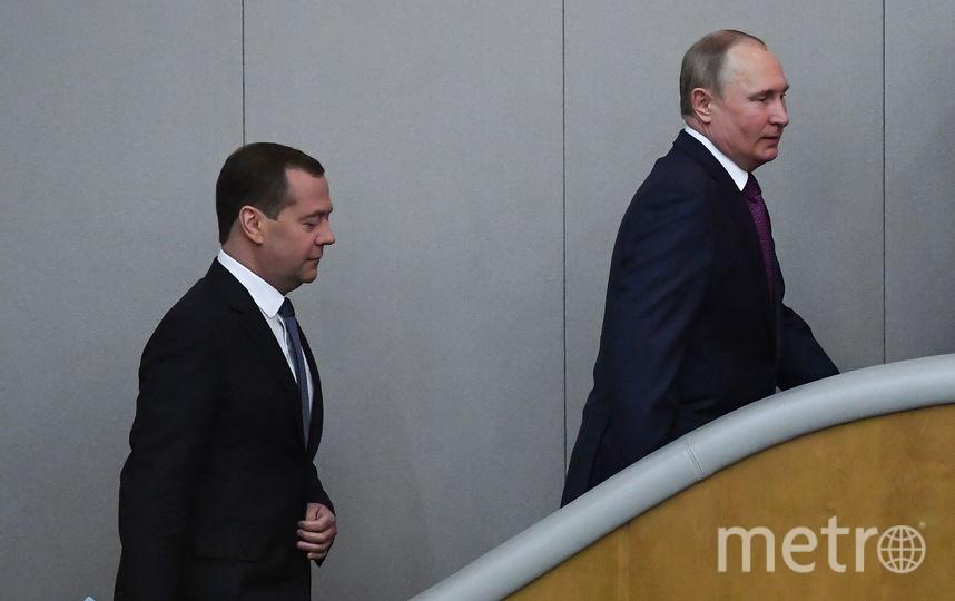 Дмитрий Медведев и Владимир Путин. Фото AFP