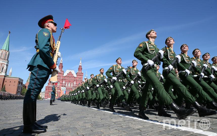 Проход пехоты на Параде Победы в Москве. Фото AFP