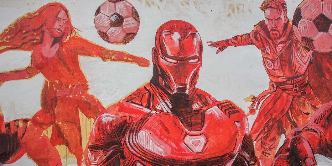 """В Москве появились граффити с героями """"Мстителей"""". Фото mos.ru"""