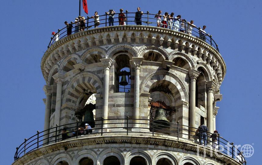 Смотровая площадка на вершине Пизанской башни. Фото Getty