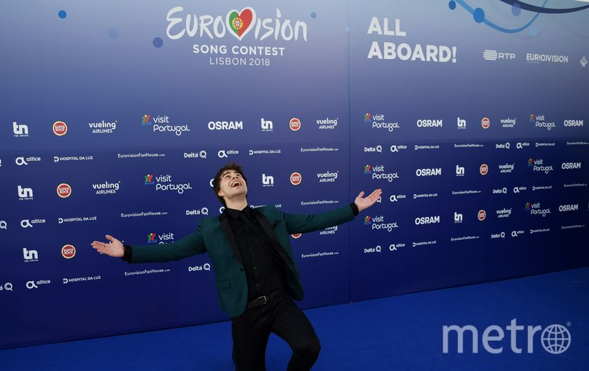 "Александр Рыбак на ""Евровидении-2018"". Фото AFP"