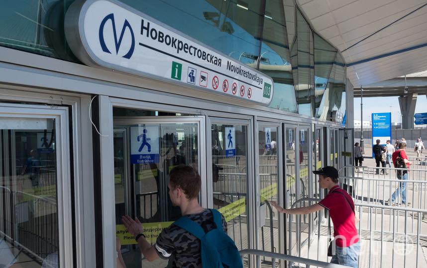 """Станция """"Новокрестовская"""". Фото Святослав Акимов."""