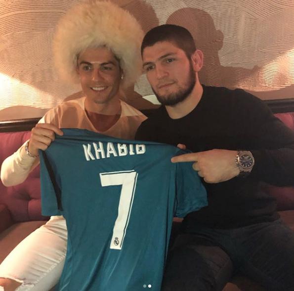 Хабиб и Криштиану. Фото instagram.com/khabib_nurmagomedov