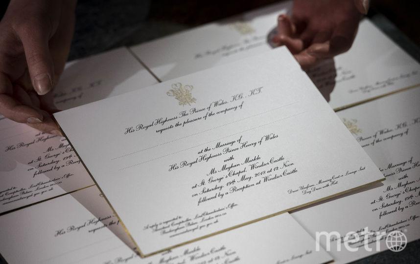 Приглашение на свадьбу принца Гарри и Меган Маркл. Фото Getty