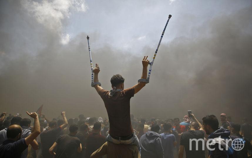 В течение шести недель палестинцы проводят акцию «Великий марш возвращения». Фото AFP