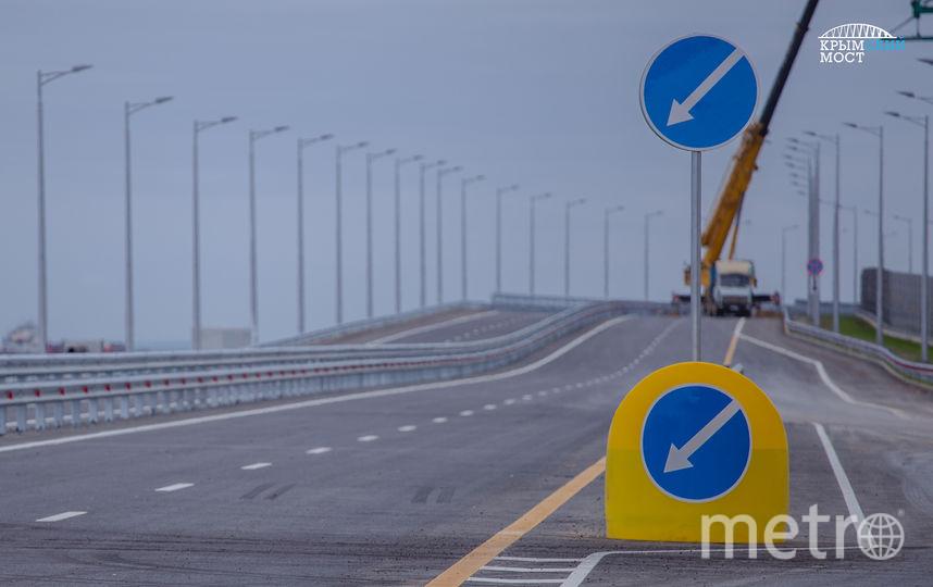 На мосту уже установлены дорожные знаки. Фото Росавтодор
