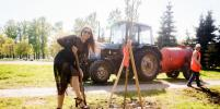 Красавицы в платьях и на каблуках посадили аллею рябин в Петербурге: фото