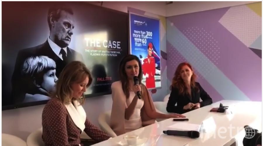 "На презентации фильма ""Дело Собчака"". Фото https://www.instagram.com/xenia_sobchak/"