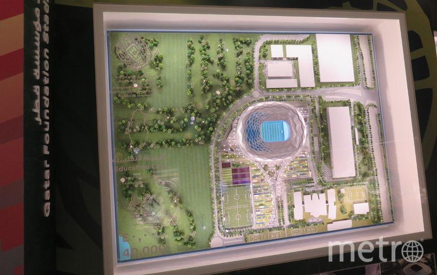 Макет стадиона Qatar Foundation. Фото Станислав Купцов
