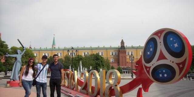 Москва становится футбольной.