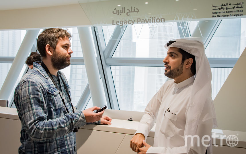 Аль Наами рассказывает журналистам о ЧМ-2022. Фото предоставлено организаторами