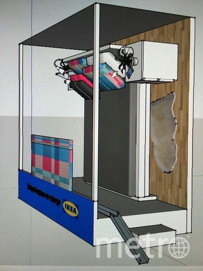 Так будет выглядеть стоящая кровать.