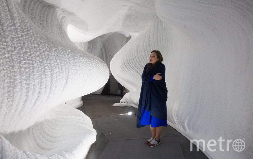 """В парке """"Зарядье"""" открылась """"Ледяная пещера"""". Фото Василий Кузьмичёнок"""